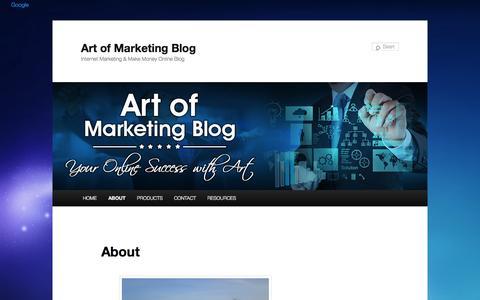 Screenshot of About Page artofmarketingblog.com - Art of Marketing - About | Art of Marketing Blog - captured Nov. 2, 2014