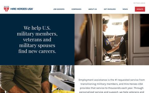 Screenshot of About Page hireheroesusa.org - Who We Are - Hire Heroes USA - captured Feb. 9, 2020