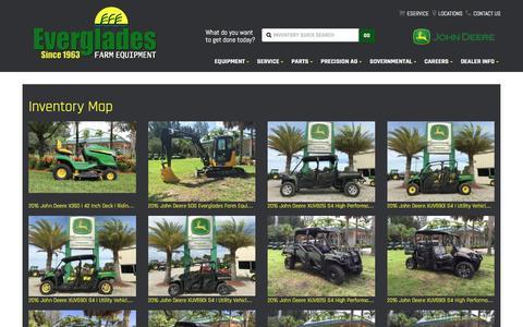 Screenshot of Site Map Page evergladesfarmequipment.com - Inventorymap | Everglades Farm Equipment | Belle Glade Florida - captured Nov. 12, 2016