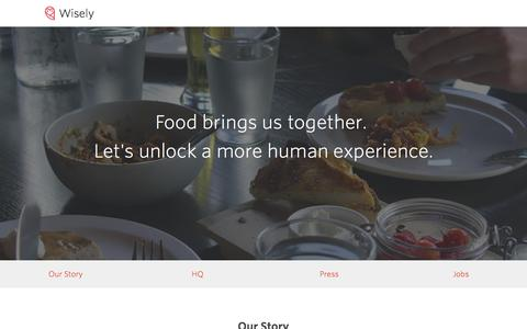 Screenshot of About Page wise.ly - About Us |  Wisely - captured Oct. 22, 2015