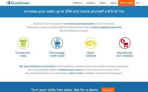 blueknow : multi-channel e-commerce personalization suite