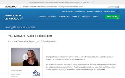 Screenshot of Case Studies Page avangate.com - VSO Software - Audio & Video Expert - captured April 13, 2018