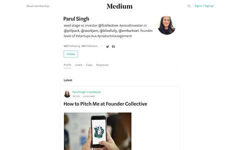 Parul Singh – Medium
