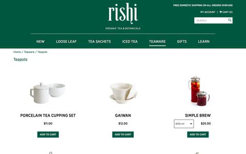 Buy Ceramic Teapots & Bowls | Iced Tea Pitchers | Rishi Tea