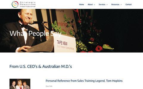 Screenshot of Team Page strategicresources.com.au - SRI - Strategic Resources International - captured Jan. 5, 2018