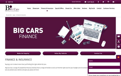 Screenshot of big-cars.co.uk - Used Car Finance | Big Cars | Chelmsford, Witham & Addlestone - captured May 24, 2017