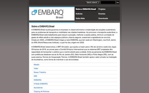 Screenshot of About Page embarqbrasil.org - Sobre a EMBARQ Brasil | EMBARQ Brasil - captured Sept. 19, 2014