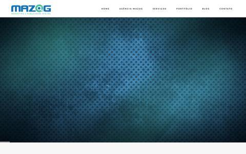 Screenshot of Home Page mazag.com.br - Home - Mazag - captured Feb. 12, 2016