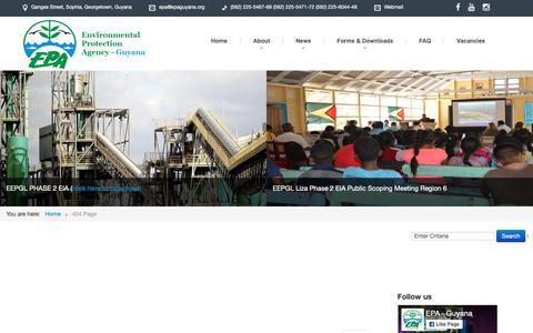 Screenshot of Privacy Page epaguyana.org - Environmental Protection Agency Guyana - captured Sept. 28, 2018