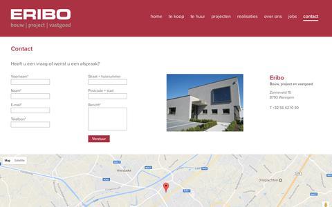 Screenshot of Contact Page eribo.be - Contact - Eribo - captured July 11, 2017