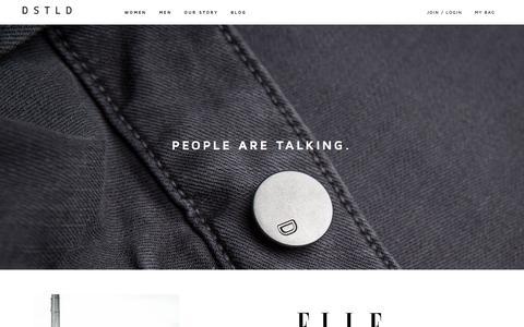 Screenshot of Press Page dstldjeans.com - DSTLD Jeans | Luxe Denim from $65 - captured Sept. 24, 2014