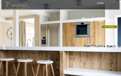 Screenshot of Home Page jpwalker.nl - Handgemaakte Houten Keukens & Interieurs | JP Walker | - captured Feb. 4, 2016