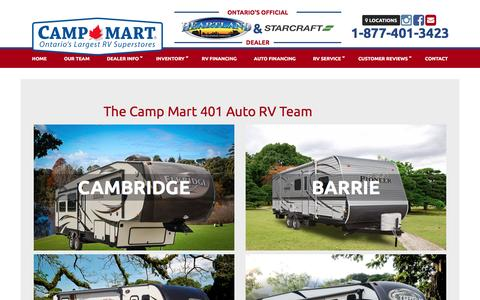 Screenshot of Team Page 401auto.ca - Staff | 401 Auto RV | Cambridge Ontario - captured Dec. 2, 2016