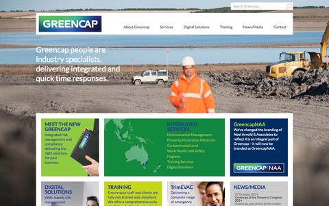 Screenshot of Home Page env.net.au - The Leading Risk Management Company in the Asia Pacific   Greencap - captured Oct. 8, 2014
