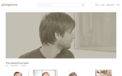 Screenshot of Team Page plainpicture.com - Photography library plainpicture - captured Dec. 18, 2016