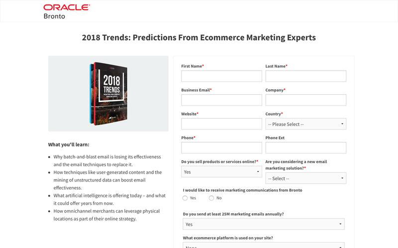 White Paper: 2018 Trends: Predictions From Ecommerce Marketing Experts | Bronto Software