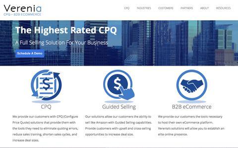 Verenia - CPQ & B2B ECommerce