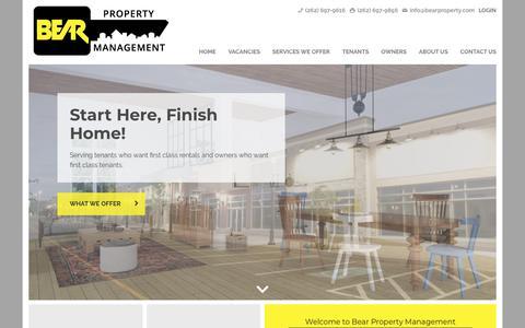 Screenshot of Home Page bearpropertymanagement.com - Bear Property Management   Wisconsin Rentals Made Simple - captured Oct. 5, 2018