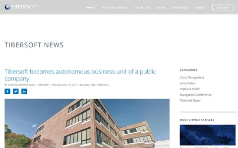 Screenshot of Press Page tibersoft.com - Tibersoft News Archives | Tibersoft - captured Oct. 24, 2018