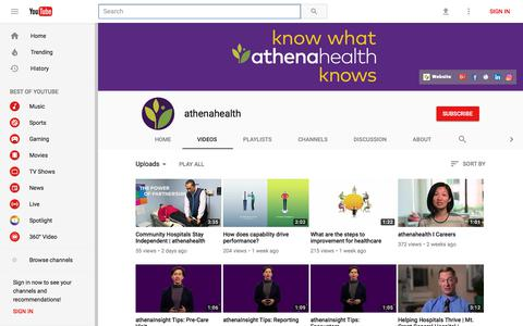 athenahealth - YouTube