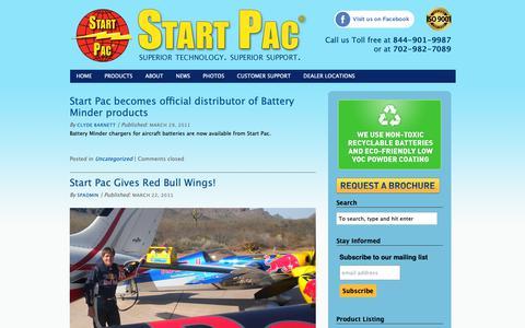 Screenshot of Press Page startpac.com - NEWS | Start Pac - captured Nov. 7, 2018