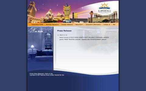 Screenshot of Press Page neptune.com.hk - Neptune Group Limited - captured Nov. 21, 2016