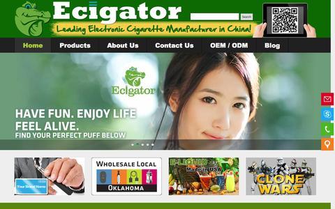 Screenshot of Home Page ecigator.net - Best Electronic Cigarette Vaporizers Wholesale - Ecigator - captured Oct. 1, 2014