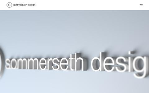 Screenshot of About Page sommersethdesign.no - About and contact | Sommerseth Design - graphic design, editorial, 3d, web design - captured Aug. 16, 2015