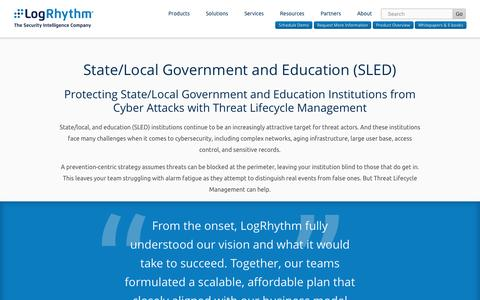 State/Local and Education Cybersecurity | LogRhythm