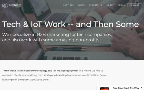 Screenshot of Case Studies Page threetwelvecreative.com - B2B Marketing: Our Work for Technology Companies - captured July 13, 2018