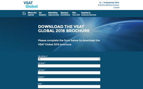 Screenshot of Landing Page knect365.com - VSAT Global - captured July 27, 2016