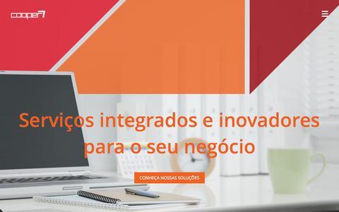Screenshot of Home Page cooper7.com.br - Cooper7 | Serviços integrados e inovadores para o seu negócio - captured Sept. 30, 2014