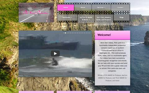 Screenshot of Home Page pinklamb.com - Pink Lamb Productions - Film, Video, and Multimedia - captured Oct. 2, 2014