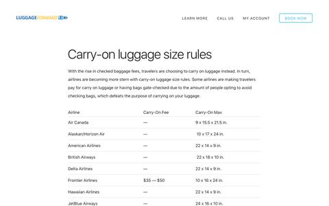 Carry-On Luggage Size Rules | Carry-On Baggage Restrictions