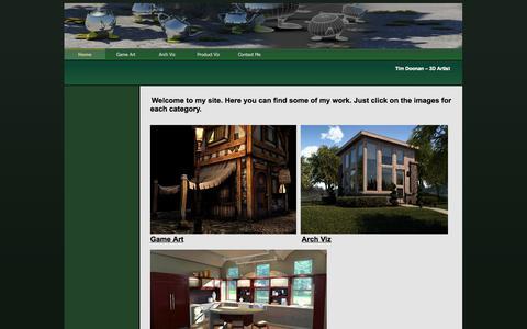 Screenshot of Home Page timdoonan.com - Home - Tim Doonan 3D Artist - captured Oct. 9, 2014