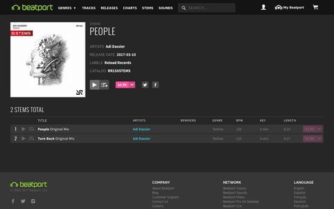 Screenshot of Team Page beatport.com - Adi Dassier — People [Reload Records] :: Beatport - captured March 12, 2017