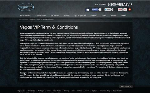 Screenshot of Terms Page vegasvip.com - Term & Conditions | Vegas VIP - captured Oct. 26, 2014