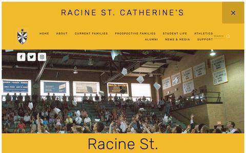 Screenshot of Home Page saintcats.org - Racine St. Catherine's - captured Oct. 24, 2017
