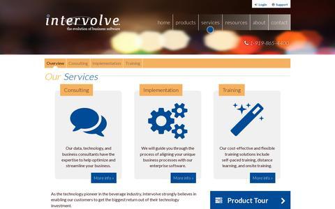 Screenshot of Services Page intervolve.com - Services - Intervolve - captured July 19, 2014