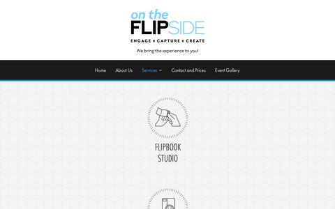 Screenshot of Services Page flipsidexperience.com - Photograph and Photo Booth Services - Flipside Experience - captured Oct. 20, 2018