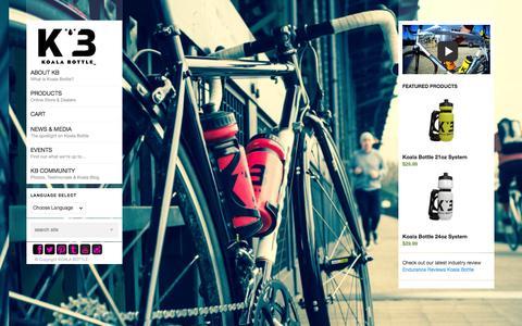 Screenshot of Home Page koalabottle.com - KOALA BOTTLE | The Magnetic Bottle - captured Sept. 30, 2014