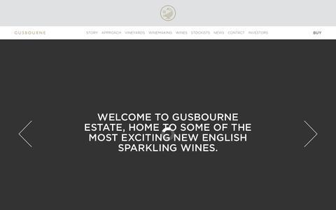 Screenshot of Home Page gusbourne.com - Gusbourne - captured Feb. 2, 2016