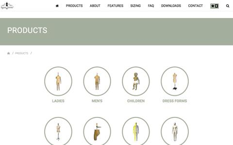 Screenshot of Products Page figureforms.co.za - Products    Figure Forms - captured Aug. 13, 2018