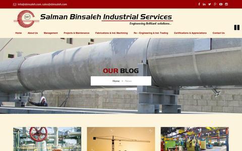 Screenshot of Press Page sbinsaleh.com - News – Salman Binsaleh Industrial Services - captured Feb. 3, 2016