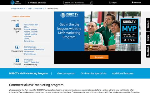Business TV MVP Marketing Program - DIRECTV for Business