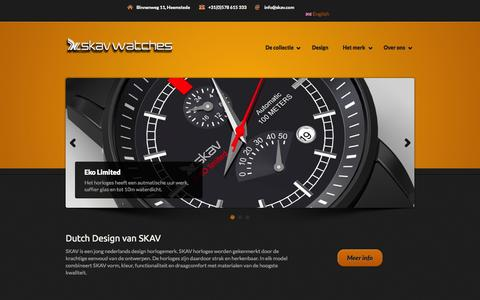 Screenshot of Home Page skav.com - SKAV-Watches - captured Oct. 6, 2014