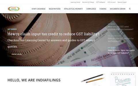 IndiaFilings - Company Registration, Trademark Filing & GST Software