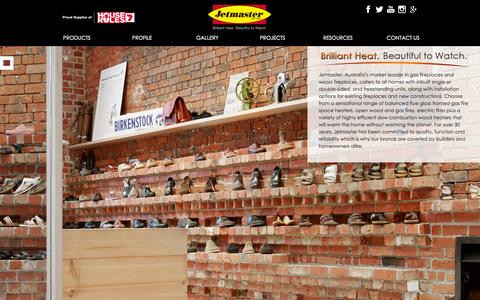 Screenshot of Home Page jetmaster.com.au - Fireplace Designs & Wood Heaters for Sale - Jetmaster - captured Sept. 23, 2014