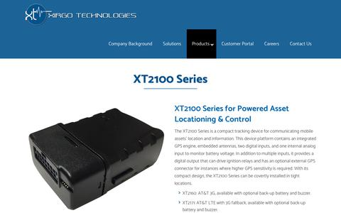 Screenshot of Products Page xirgotech.com - Xirgo Technologies | Fleet Management Solutions & Tracking | M2M Communications |   XT2100 Series - captured Oct. 20, 2018