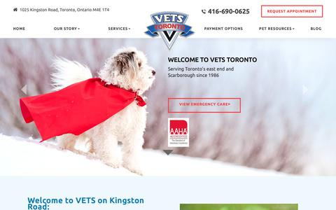 Screenshot of Home Page vetstoronto.com - VETs Emergency, Emergency Veterinarian in Toronto, ON - captured Oct. 18, 2018